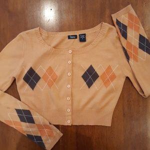 daisy Sweaters - Cropped argyle cardigan