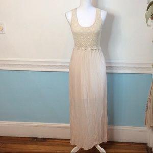 Francesca's Collections Dresses & Skirts - Francesca's Cream Lace Maxi Dress
