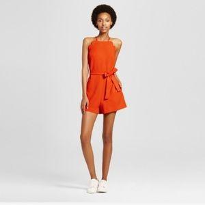 Victoria Beckham for Target orange romper