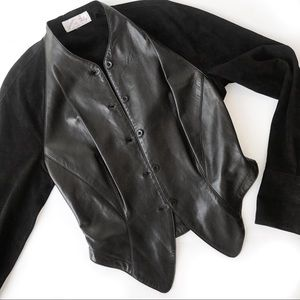 Vintage Jackets & Blazers - Vintage leather suede black jacket