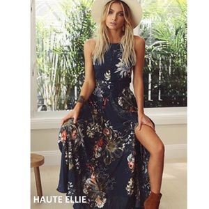 Haute Ellie Dresses & Skirts - 🆕 Falling Star Crochet Inset Halter Dress