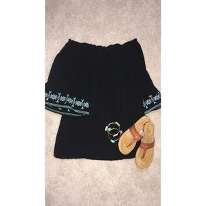 off the shoulder tunic/dress