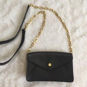 Tory Burch Handbags - New Tory Burch Small Black & Gold Chainlink Purse