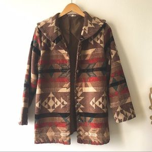 Fall Vintage Indian Blanket Jacket