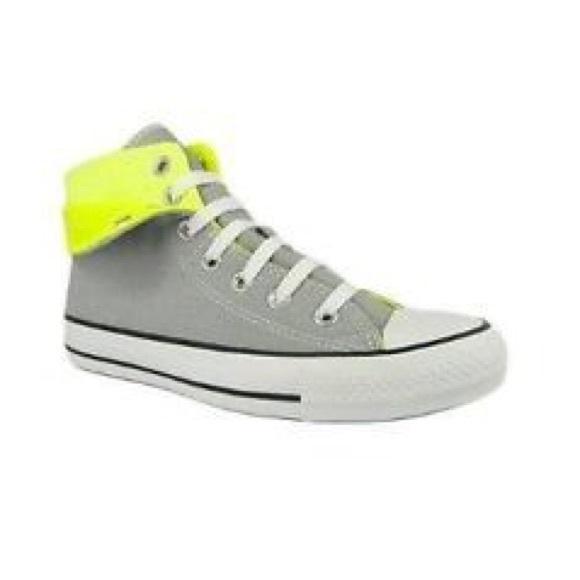 Converse Shoes   Grey Neon High Tops 4