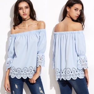 ROMWE Tops - NWOT off the shoulder blouse