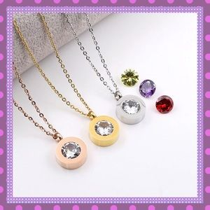 ❣️Trending Interchangeable Crystal Stone Necklace