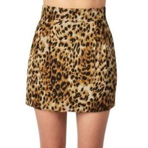 Naven Dresses & Skirts - NWT Naven Leopard High Waist Mini Skirt