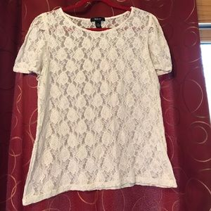 Style & Co Tops - Style & co lace blouse size XL