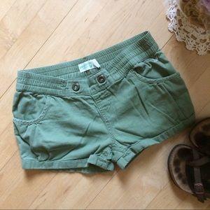 Pants - Army green bubble shorts