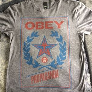 Obey Other - Grey Obey t shirt