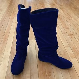 NWT Qupid royal blue slouch boots