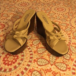 Callisto Shoes - Callisto wedge sandals.