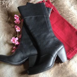 b.o.c. Shoes - NWOT B.o.c Vegan Leather Heeled Tall Boots