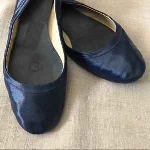 Lanvin Shoes - Lanvin Blue Satin Flats