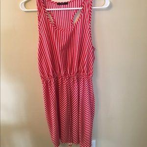 Soprano Dresses & Skirts - Red white tripped dress