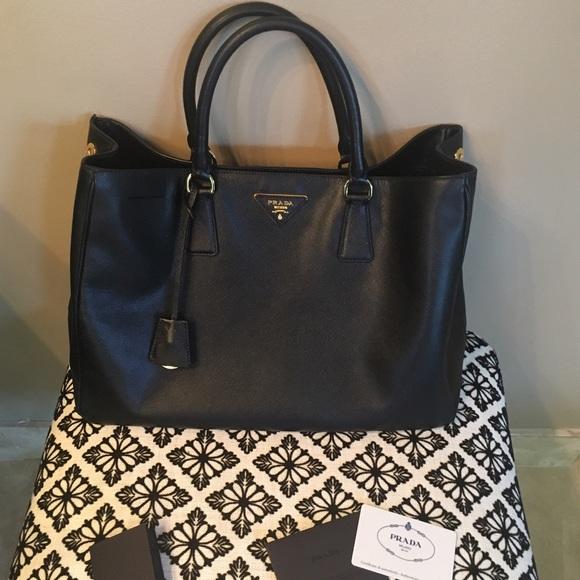 a37dba632832 Prada Bags | Sale Saffiano Lux Nero Bag | Poshmark