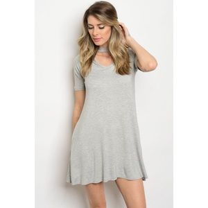 Dresses & Skirts - 🆕Gray Choker Tunic Dress