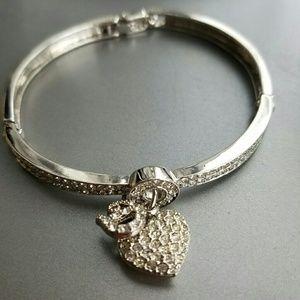 30% OFF BUNDLES Dior heart crystal bracelet