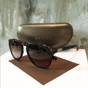 Auth Gucci GG1014 Havana Black Unisex Sunglasses