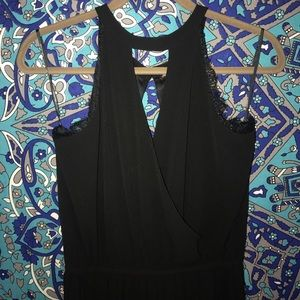 Black cutout jumpsuit