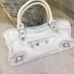 Handbags - White leather shoulder bag