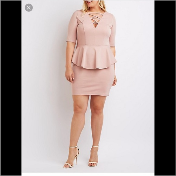 Charlotte Russe Plus Peplum Dress
