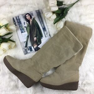 Steve Madden Shoes - Steve Madden Micky Tan Suede Wedge Boots