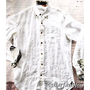 Tailor Vintage Other - 💯linen long sleeve cool 😎 shirt