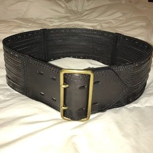 Linea Pelle Accessories - SALE❤️ NWOT Linea Pelle wide black belt size S