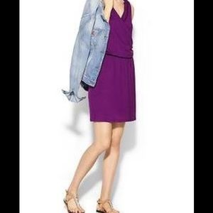 Tinley Road Dresses & Skirts - Purple eggplant faux wrap crossover dress grecian