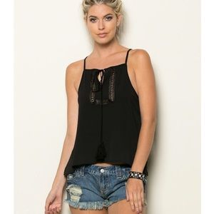 Focus On Life Apparel Tops - Relaxed Fit String Tank Top