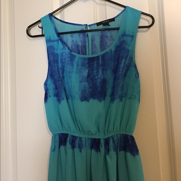 forever 21 blue and teal forever 21 high low dress from