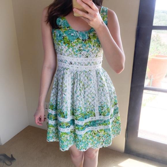 Modcloth Dresses Minuet Floral Fit Flare Spring Dress