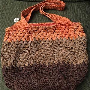 The Sak Handbags - The Sak Large Crochet Bucket Hobo Handbag