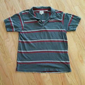 Point Zero Other - Point Zero Red and White Striped Polo