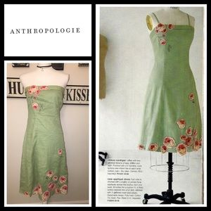 Anthropologie Dresses & Skirts - *HP* Rare Vintage anthro 2004 Rose Applique Dress