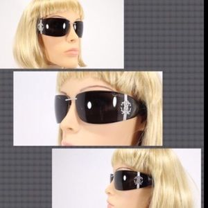 Roberto Cavalli Accessories - NO LOWBALL-ROBERTO CAVALLI AGLAIA BLACK SUNGLASSES
