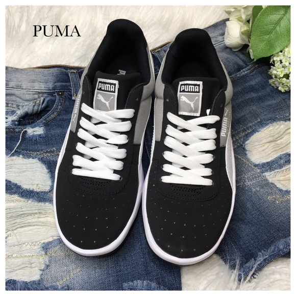 f52598b3292fc4 NIB PUMA BLACK   GREY SNEAKERS