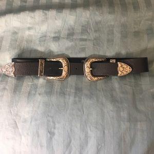 B-Low the Belt Accessories - B-low the belt bri bri double buckle belt