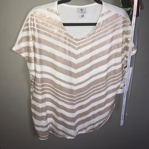 Worthington Tops - Sequence top *PLUS SIZE* white and rose pink