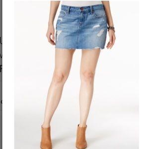 Lucky Brand Dresses & Skirts - Lucky Brand Ripped Fort Ross Wash Denim Mini Skirt