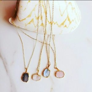 Dainty jewelry 18k gold plated necklace
