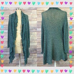 Fever London Sweaters - Flowy oversized thin draped cardigan #35