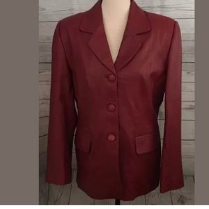 Versace Jackets & Blazers - Versace Leather Couture 1980's Blazer, Vintage