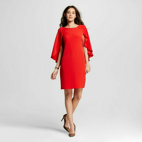 e3127b756d1fa DR Collection by Donna Ricco Cape Sleeve Dress.