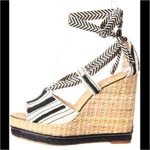 Sam Edelman Shoes - Sam Edelman Trey Embellished Beaded Wedge Sandal 9