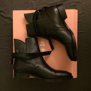 Acne Shoes - Acne Studios Bois Judhpur black ankle boot