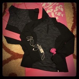 Active Life Tops - 2 Active Life Fleece Semi-Fitted 1/4 Zip Pullovers