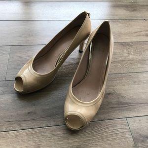 "Stuart Weitzman Shoes - Stuart weitzman 2.5"" open toe leather heels"